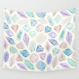 Pastel Watercolor Gems Wall Tapestry