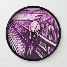 The Scream's Haze (purple) Wall Clock