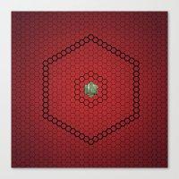 hexagon Canvas Prints featuring Hexagon by BoxEstudio