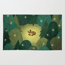 Enchanted Forest Baby Fawn Rug
