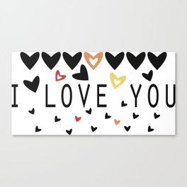 i love you Canvas Print