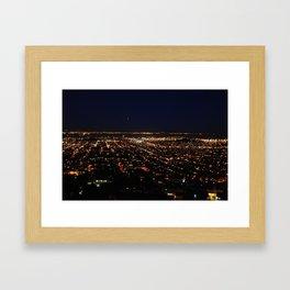San Francisco Skyline at Night Framed Art Print