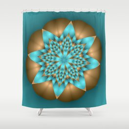 joy and energy -11- Shower Curtain