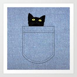 pocket cat Art Print