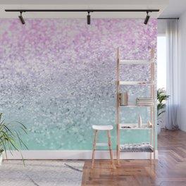 Mermaid Girls Glitter #1 (2019 Pastel Version) #shiny #decor #art #society6 Wall Mural