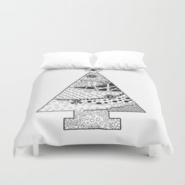 Doodle Christmas Tree Duvet Cover