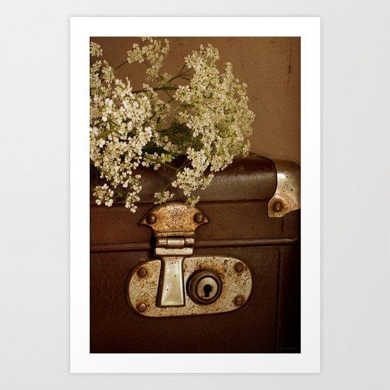 Old suitcase Art Print