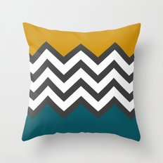 Color Blocked Chevron Throw Pillow