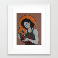 ripley Framed Art Prints featuring holy ripley by Just Sprayed