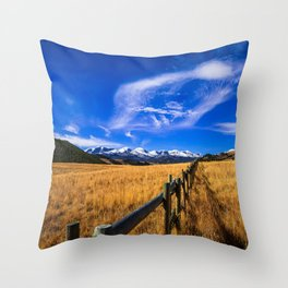 Distant Bighorns - Mountain Scenery in Northern Wyoming Throw Pillow