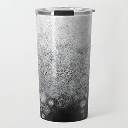 Snowfall on Black Travel Mug