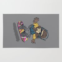teen wolf Area & Throw Rugs featuring teen wolf on a hover board by Peter Kramar