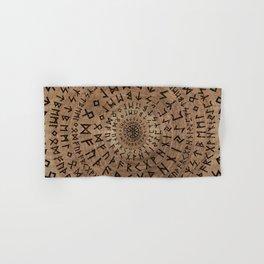 Elder Futhark Circular Composition Hand & Bath Towel
