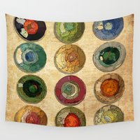 atlas Wall Tapestries featuring ATLAS by d.ts
