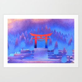 Tengami - Red Gate Art Print