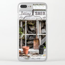 Potting Shed At Work Clear iPhone Case