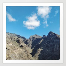 Green & Blue at Barranco del Infierno National Park, Tenerife Art Print
