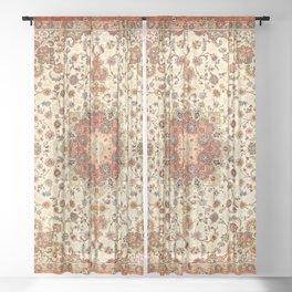 Bohemian Traditional Moroccan Style Artwork Sheer Curtain