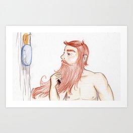 Luxurious Beard Mountain Man Art Print