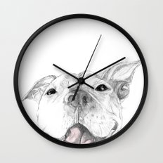 A Smile is Worth a Thousand Words :: A Pit Bull Smile Wall Clock