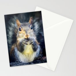 Cute Squirrel with Acorn Stationery Cards