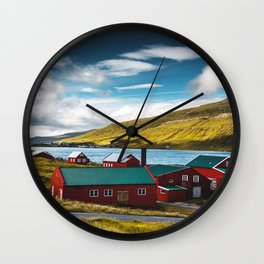 faroean village Wall Clock