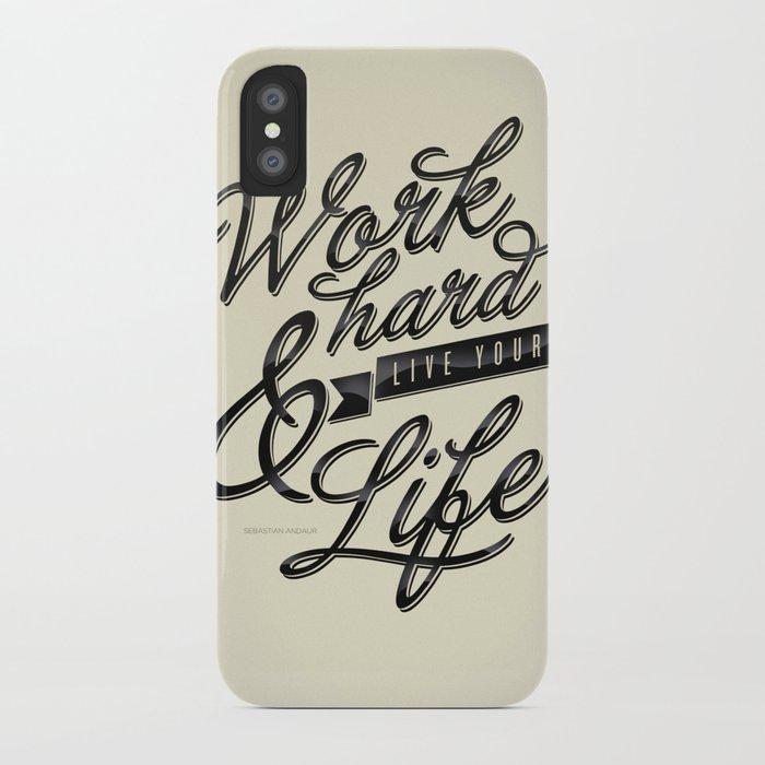 Work Hard iPhone Case
