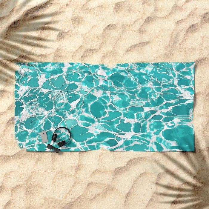 swimming pool water texture Beach Towel