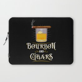 Bourbon and Cigars Laptop Sleeve