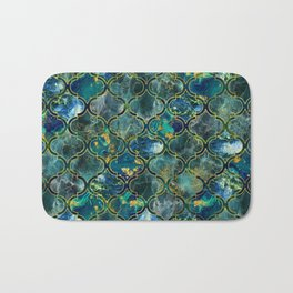Oriental Pattern with Marble and gold Bath Mat