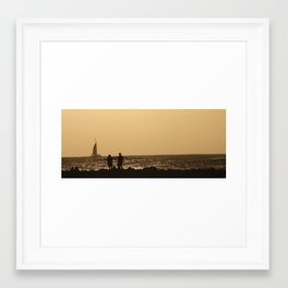 Watching the sail  Framed Art Print