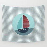sailing Wall Tapestries featuring Sailing by Mr and Mrs Quirynen