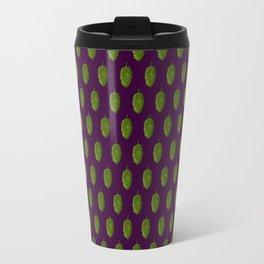 Hops Dark Purple Pattern Travel Mug