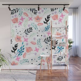 Sweet Floral Watercolor Wall Mural