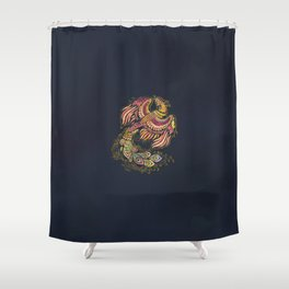 Watercolor Phoenix bird Shower Curtain