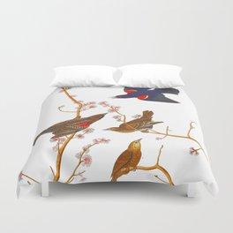 Red winged Starling, or Marsh Blackbird Duvet Cover