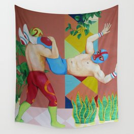 Huracanrana in the greenhouse Wall Tapestry