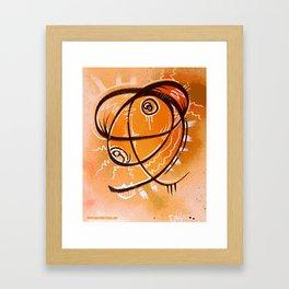 The Orange thing that I saw in a dream Framed Art Print
