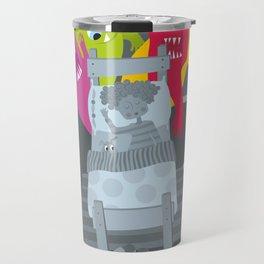 kid and ghosts Travel Mug