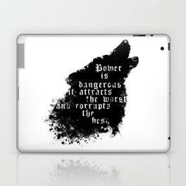 power - is dangerous wolf illustration Laptop & iPad Skin