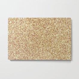 Elegant Gold Glitter Metal Print