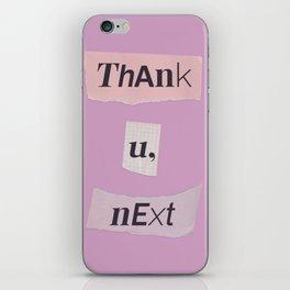 thank you next - Ariana - pink 2 iPhone Skin