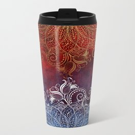 Mandala - Fire & Ice Metal Travel Mug