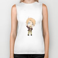 hetalia Biker Tanks featuring Chibi!America by Manos-Art