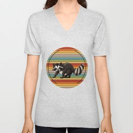 Raccoon Colorful Unisex V-Neck