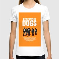 reservoir dogs T-shirts featuring Reservoir Dogs Movie Poster by FunnyFaceArt