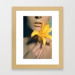 #2 Fowers Lips Framed Art Print