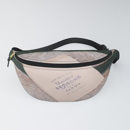 Beautiful Reasons to be Happy Quote Fanny Pack