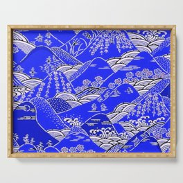 Japanese Mountains Print Serving Tray