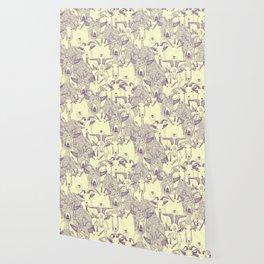 just goats purple cream Wallpaper